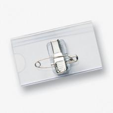 3560 - Transparante naambadges / formaat 35 x 60 mm