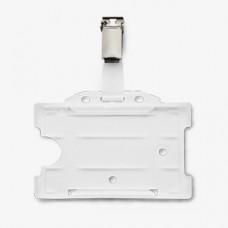 5582BK - Hard plastic badge  formaat 90 x 65 mm