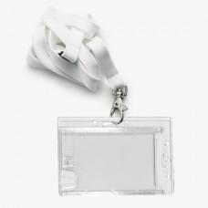 6685NK - Transparante badges - Geschikt voor 2 pasjes